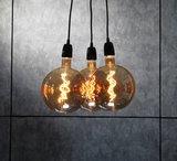 Edison LED lamp G200-4W Amber Curled_
