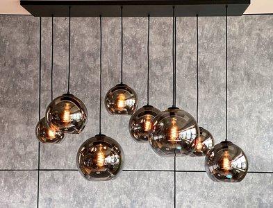 Hanglamp Bowl met Lichtbron Globe Smoke Filament